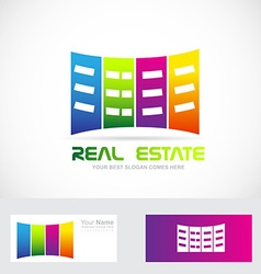 Real estate buildings logo vector