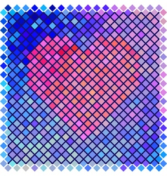 Red color halftone heart shape vector image vector image