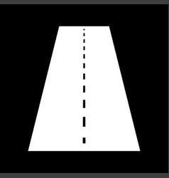 road white color icon vector image