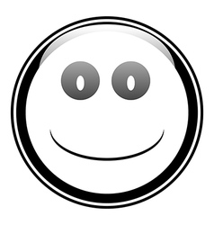 Smile face button vector image vector image