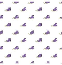 Sneakers pattern cartoon style vector image