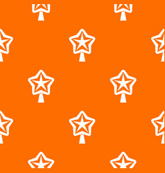 Star for christmass tree pattern seamless vector