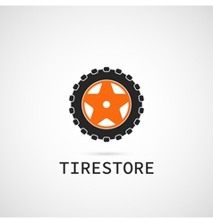 Tire store logo template vector