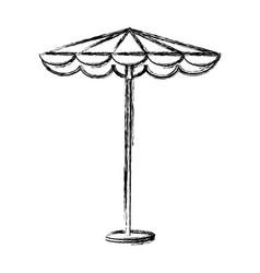 umbrella beach isolated icon vector image