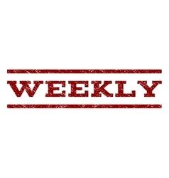 Weekly watermark stamp vector