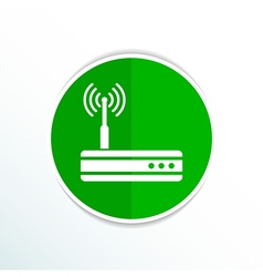 wireless router icon wifi adsl ethernet modem hub vector image