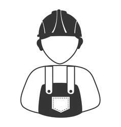 Worker with helmet and coveralls avatar profile vector
