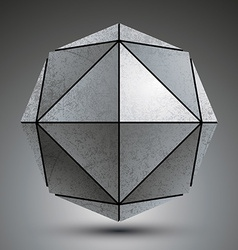 Zink geometrical 3d object isolated on white vector