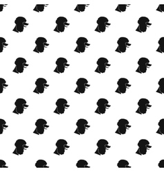 Poodle dog pattern simple style vector