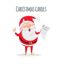 Santa claus sing xmas carols singer actor vector