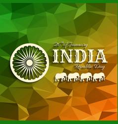 26th of january india republic da vector