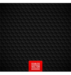 Hexagons seamless black background vector