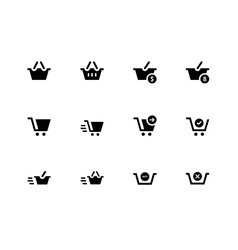 Checkout icons on white background vector