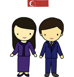Singapore traditional costume vector image