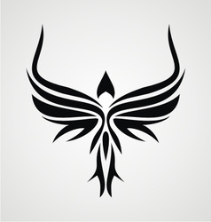 Tribal bird vector