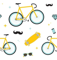 Hipster objects pattern vector