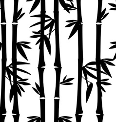 Black bamboo pattern vector image