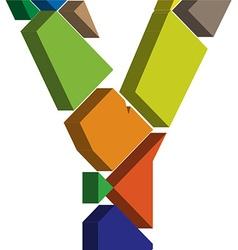 3d font letter Y vector image