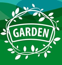 Round logo Garden Plants vector image
