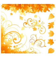 autumn items vector image