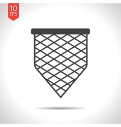 Scoop-net icon vector
