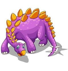 Purple dinosaur with spikes tail vector