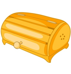 Cartoon home kitchen bread bin vector