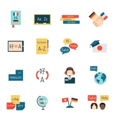 Languages education and school learning vector