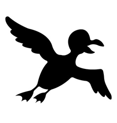 Silhouette of bird vector