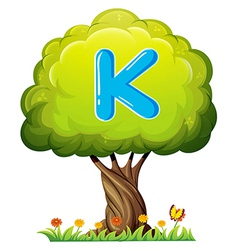 A tree with a letter K vector image vector image