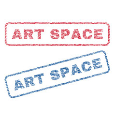 Art space textile stamps vector