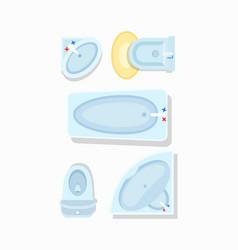 Bathroom furniture icon vector