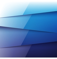 Blue shiny paper layers abstract background vector image vector image