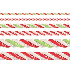 Candy cane borders vector
