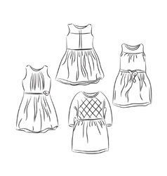 Clothes for baby girl vector image vector image