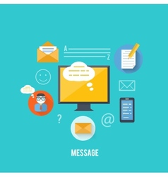 Concept of message and email technology vector