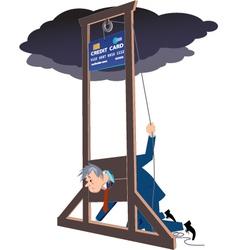 Credit card guillotine vector