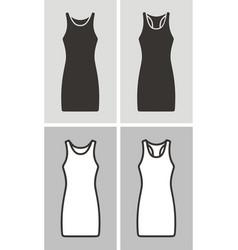 Dress set vector