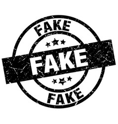 Fake round grunge black stamp vector