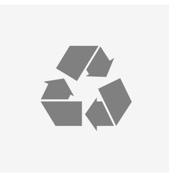 Gray recycle sign or icon vector