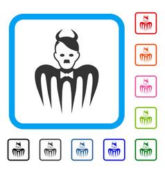 Hitler spectre devil framed icon vector