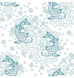 Koi carp pattern vector