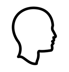 Profile head human man outline vector