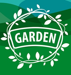 Round logo Garden Plants vector image vector image