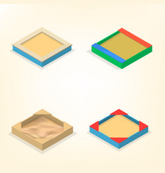 Sandbox in isometric vector