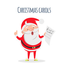 Santa claus sing xmas carols singer actor vector