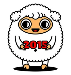 Sheep with 2015 sign vector image vector image