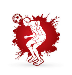Soccer player bouncing a ball action designed on vector
