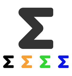 Sum icon vector