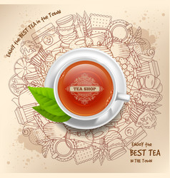 tea design vector image vector image